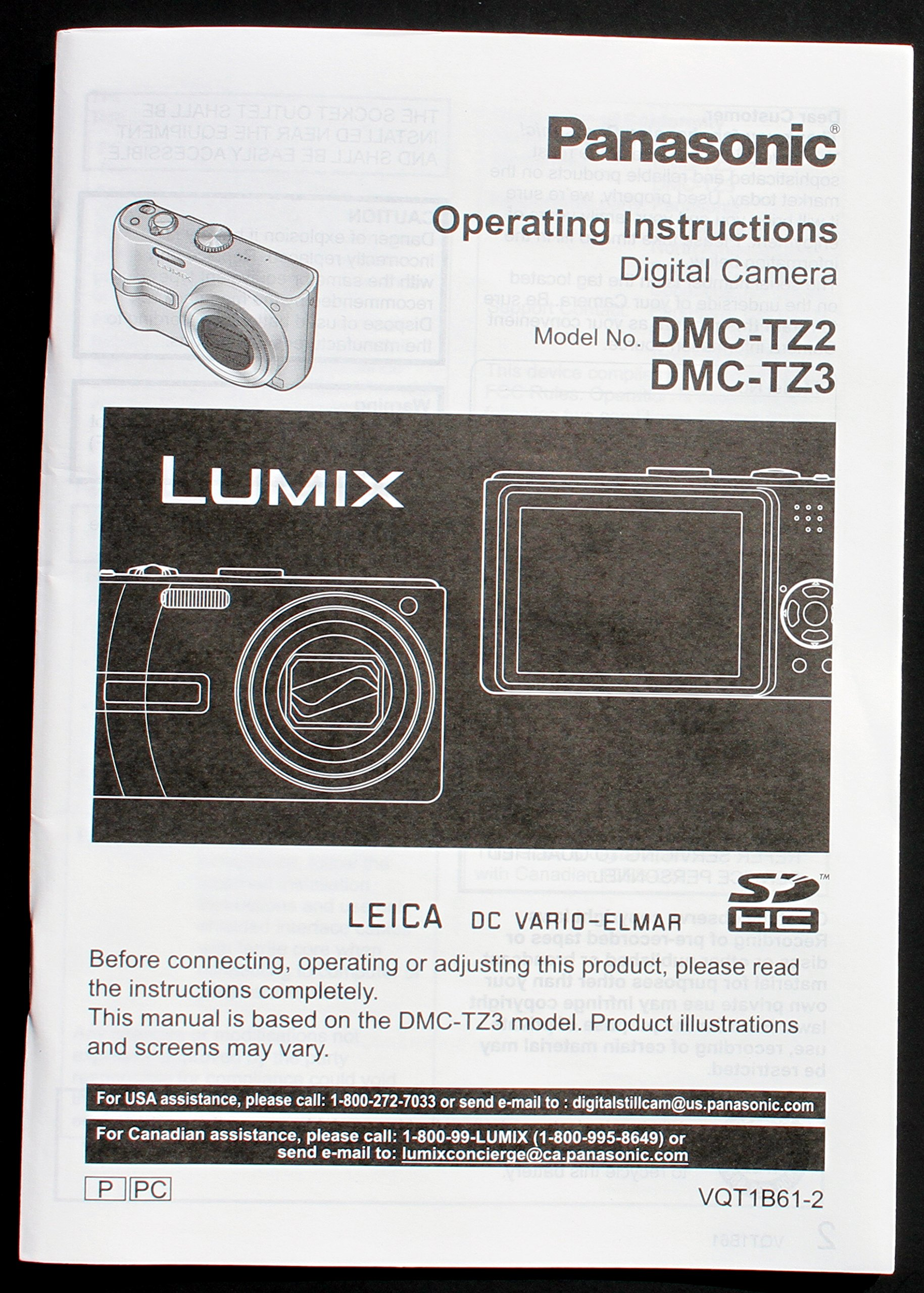 panasonic lumix dmc tz2 dmc tz3 original operating instruction rh amazon com panasonic lumix dmc-tz3 manuel panasonic lumix dmc-tz3 manuel