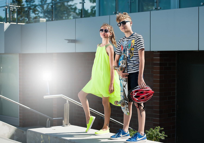 Mira mr-200/bambini Aviator occhiali da sole/ /fornita in confezione regalo in microfibra e borsa da trasporto /Lenti polarizzate con protezione UVA e UVB 100/%/ /comodi ragazze design retr/ò/