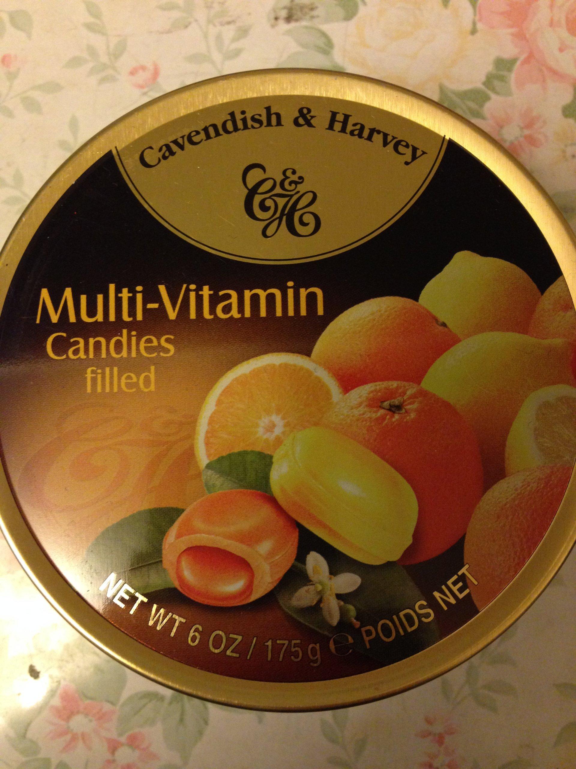 Cavendish & Harvey Multi-Vitamin Candies filled Drops 175g QUALITY BRITISH FOOD 0102