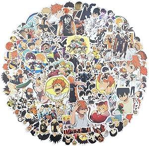 119 PCS Haikyuu Stickers Waterproof Vinyl Anime Stickers for Laptop Skateboard