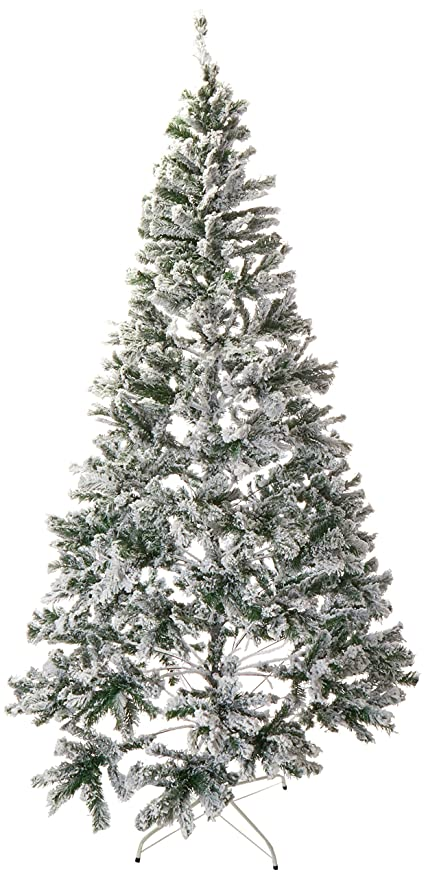 Christmas Tree Snow.Perfect Holiday Christmas Tree 8 Feet Flocked Snow