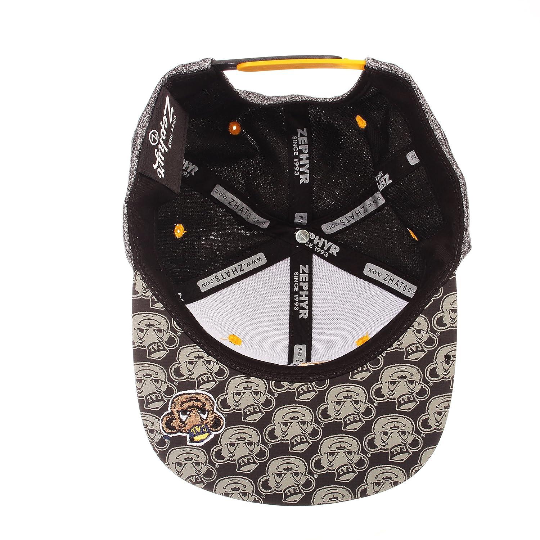 Gray//Team Color Adjustable Zephyr Children Boys Prodigy Youth NCAA Snapback Hat