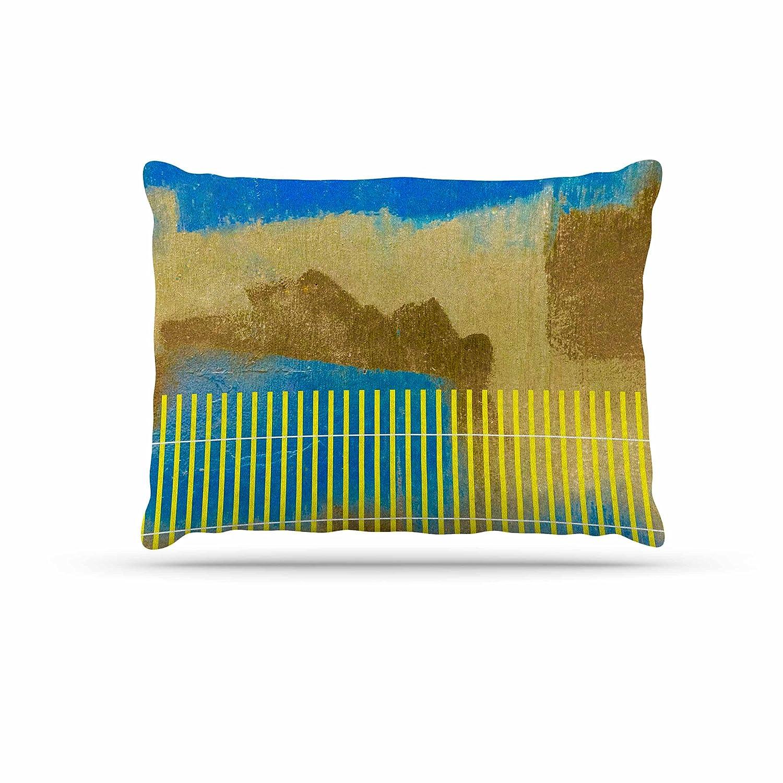 KESS InHouse Trebam Okean bluee Yellow Dog Bed, 30  x 40
