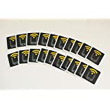 20 Black NFC Tags - 20 NTAG213 Stickers by Tagstand, Compatible with all NFC-capable phones