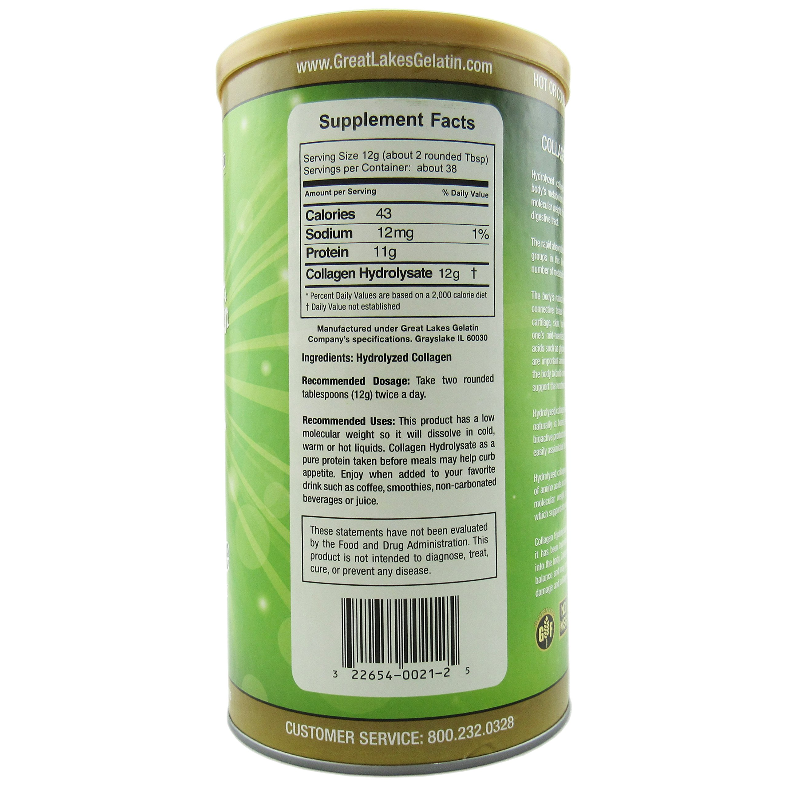 Great Lakes Gelatin Co., Collagen Hydrolysate, Bovine, 16 oz (454 g) - 2pcs by Great Lakes (Image #2)