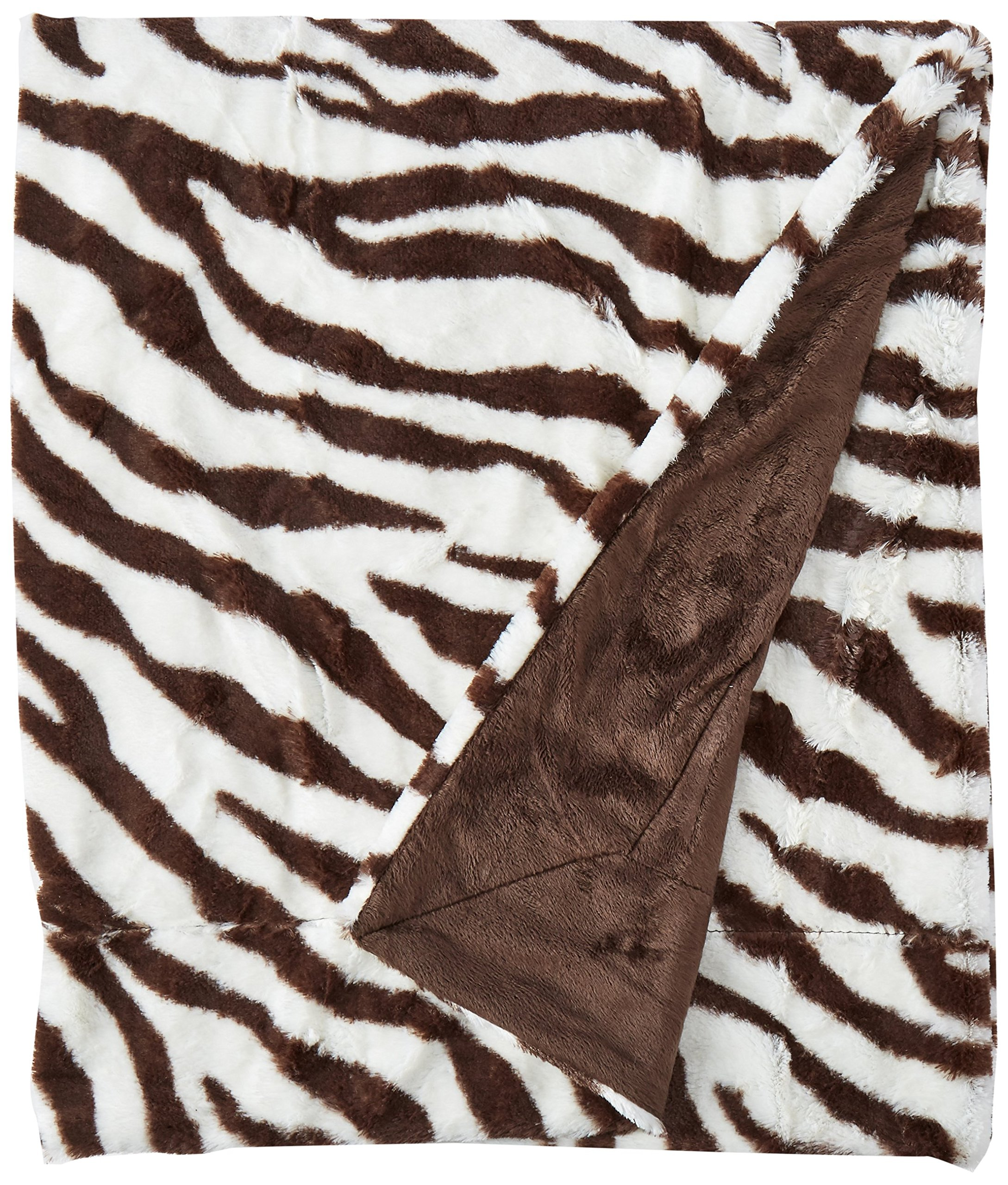Brielle Safari Faux Fur Throw, 50'' by 60'', Zebra