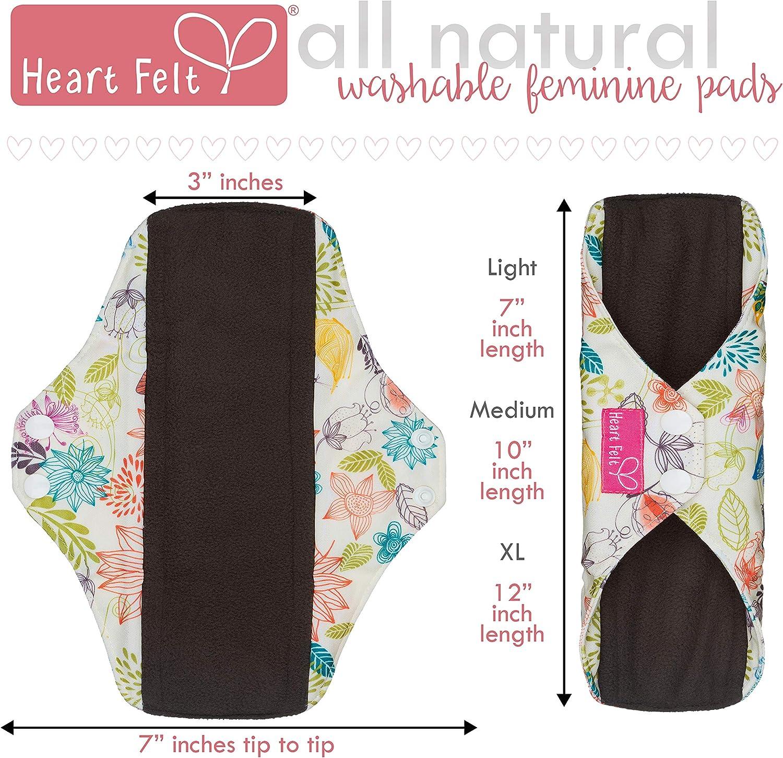 Heart menstrual pad ready to ship