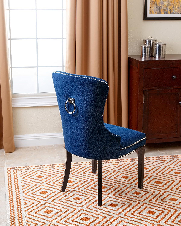 Abbyson Dubois Tufted Dining Chair Navy Blue | Best Seller ...