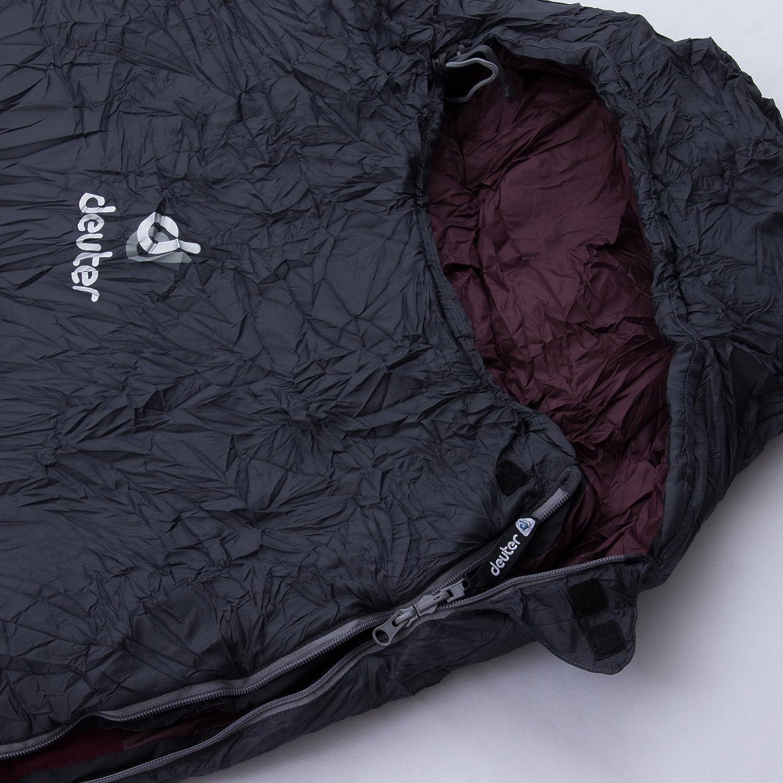 Deuter Orbit +5° - SL - Saco de Dormir, Unisex Adulto, Rojo(Granite-Aubergine): Amazon.es: Deportes y aire libre