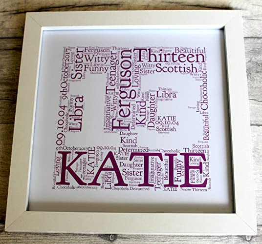 MadeAt94 13th Birthday Gifts Frame For Girls And Boys Personalised Amazoncouk Handmade