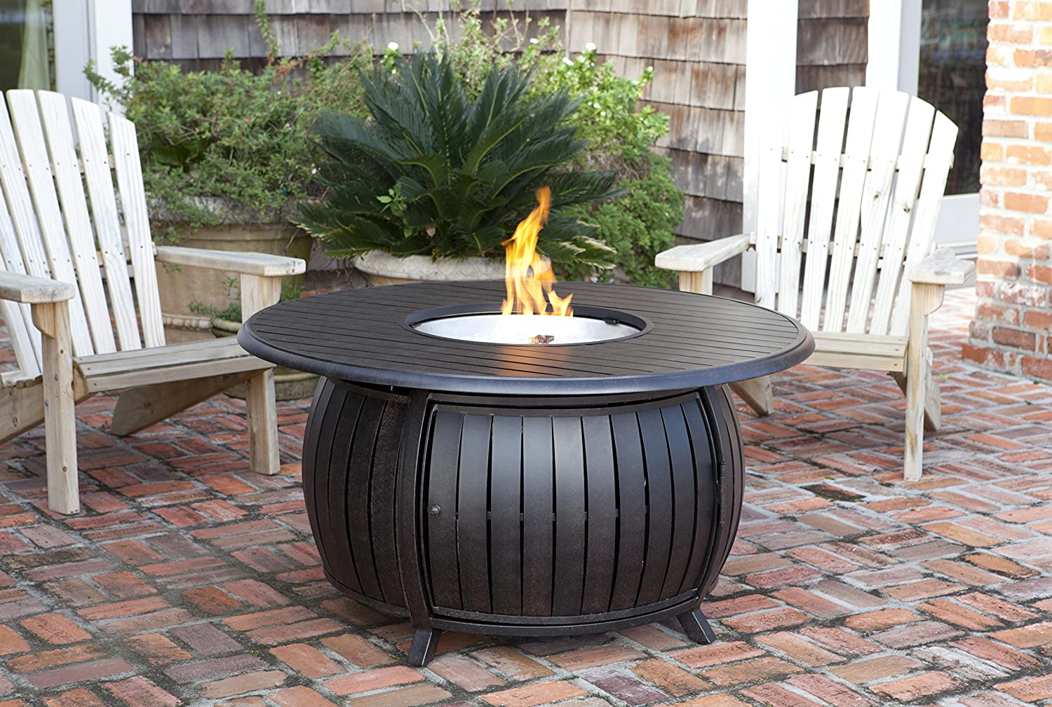 Fire Sense Extruded Aluminum Round LPG Fire Pit