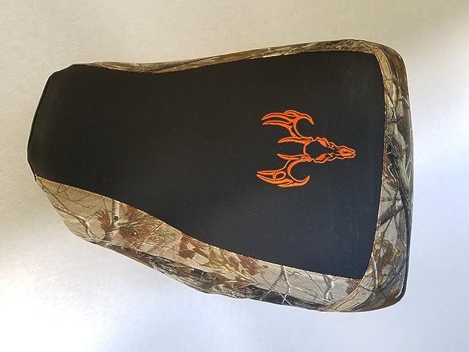 fits 2004-2006 black gripper//Bonz camo deer skull HCC Racing seat cover compatible with Honda Rancher 350 400