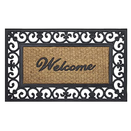 Attrayant Achim Home Furnishings WRM1830FL6 Fleur De Lis Wrought Iron Rubber Door Mat,  18 By 30u0026quot