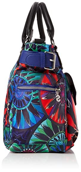 Desigual Bols_indian Galactic London Mini, Sac femme, Blau (Azul Lovely), 13x21x26.5 cm (B x H T)