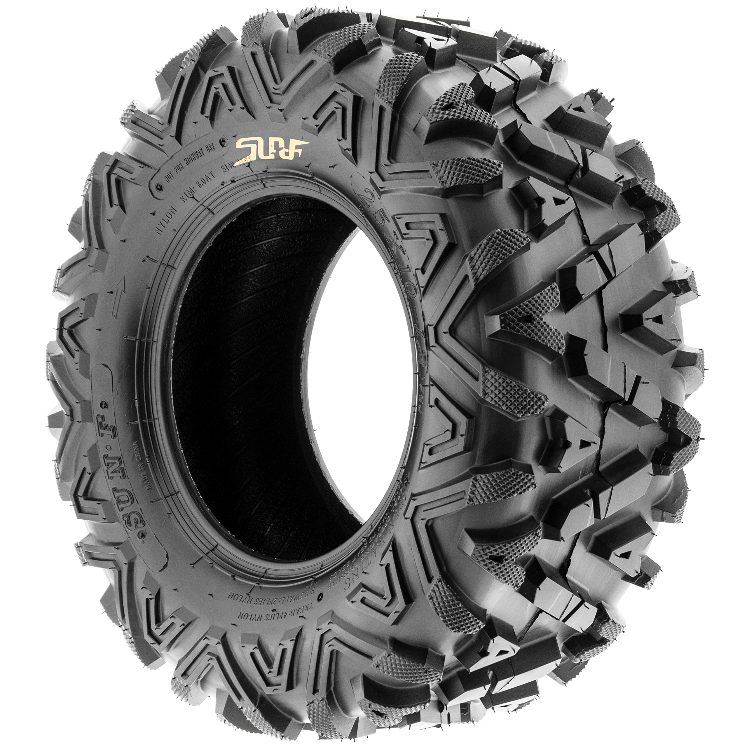 Pair of 2 SunF A033 Power.I AT 25x10-11 ATV UTV Off-Road Tires, All-Terrain, 6 PR, Tubeless by SUNF (Image #4)