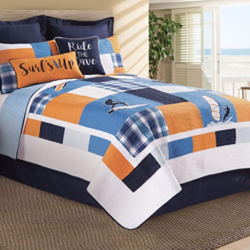 C F Home Surfer s Cove Twin Quilt Twin Quilt Blue