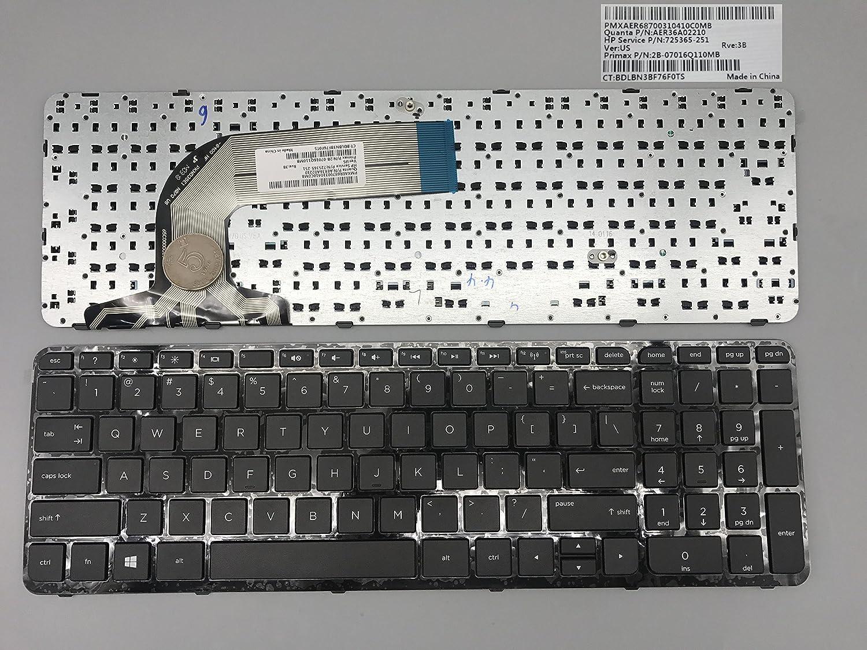 New keyboard for HP Pavilion 17-e000 17-e100 725365-001 17-e002xx 17-e009wm 17-e010us 17-e011nr 17-e012nr 17-e013nr 17-e014nr 17-e016dx 17-e017cl 17-e017dx 17-e019dx US Black Frame 17-E