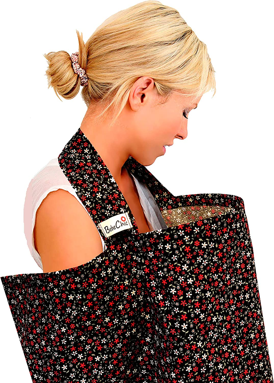 BebeChic.UK Breastfeeding Covers Top Quality Oeko-Tex/® Certified 100/% Cotton Boned Nursing Tops Ditsy Floral