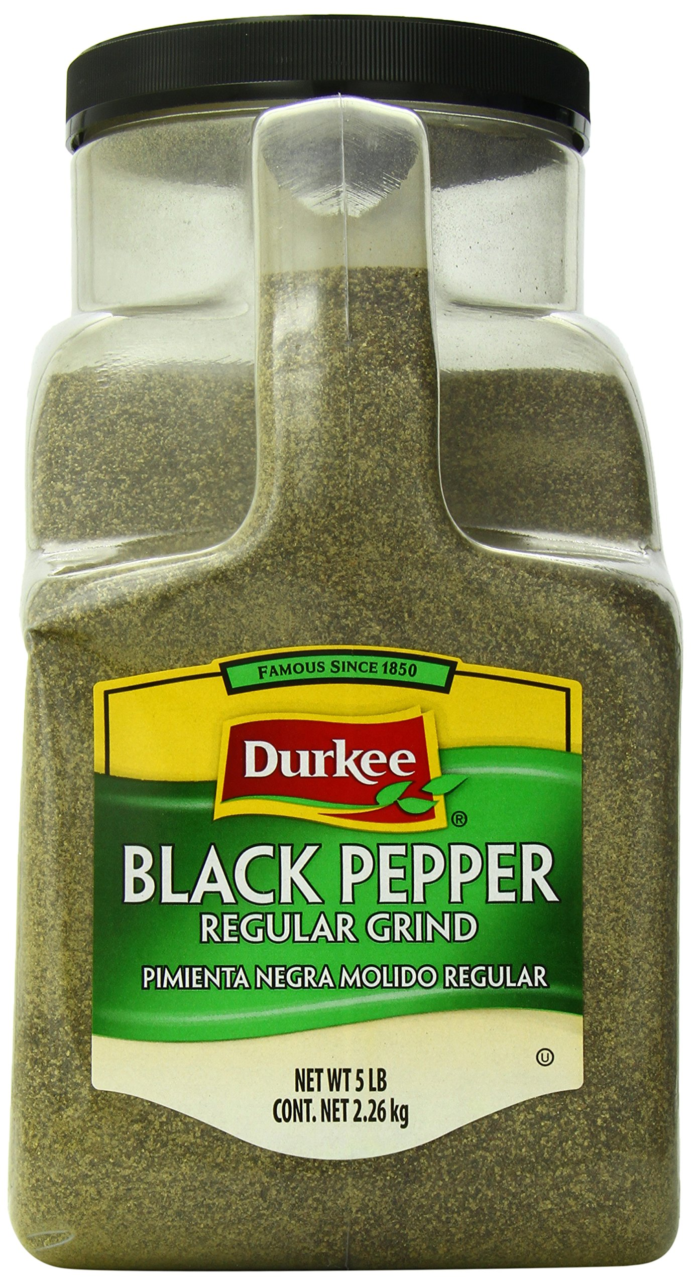 Durkee Black Pepper, Regular Grind, 5-Pound