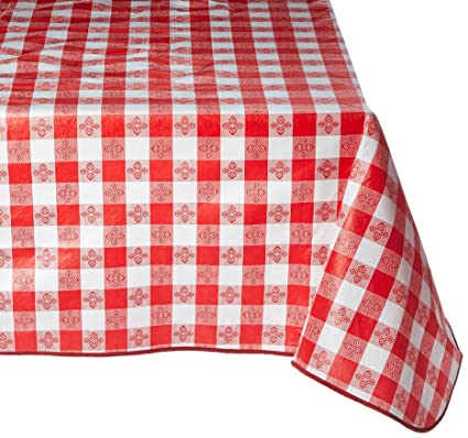Winco TBCS 52R Checkered Table Cloth, 52 Inch X 52 Inch,