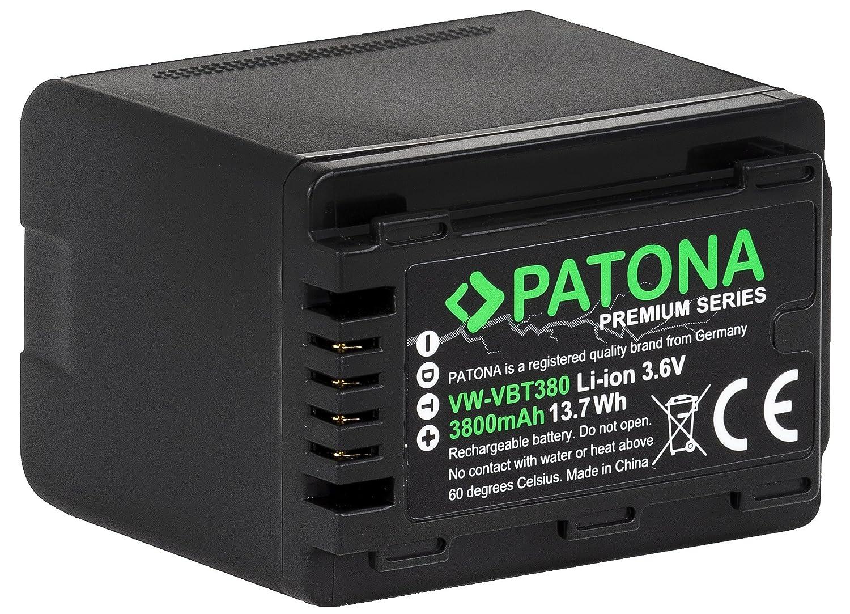 Premium batería-cargador ladestaton para Panasonic hc-vx878 hc-vx989