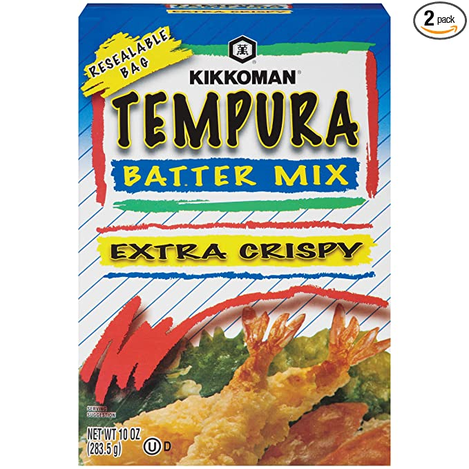 Amazon Com Kikkoman Mix Tempura Batter Extra Crispy Net Wt 10 Oz Pack Of 2 Grocery Gourmet Food