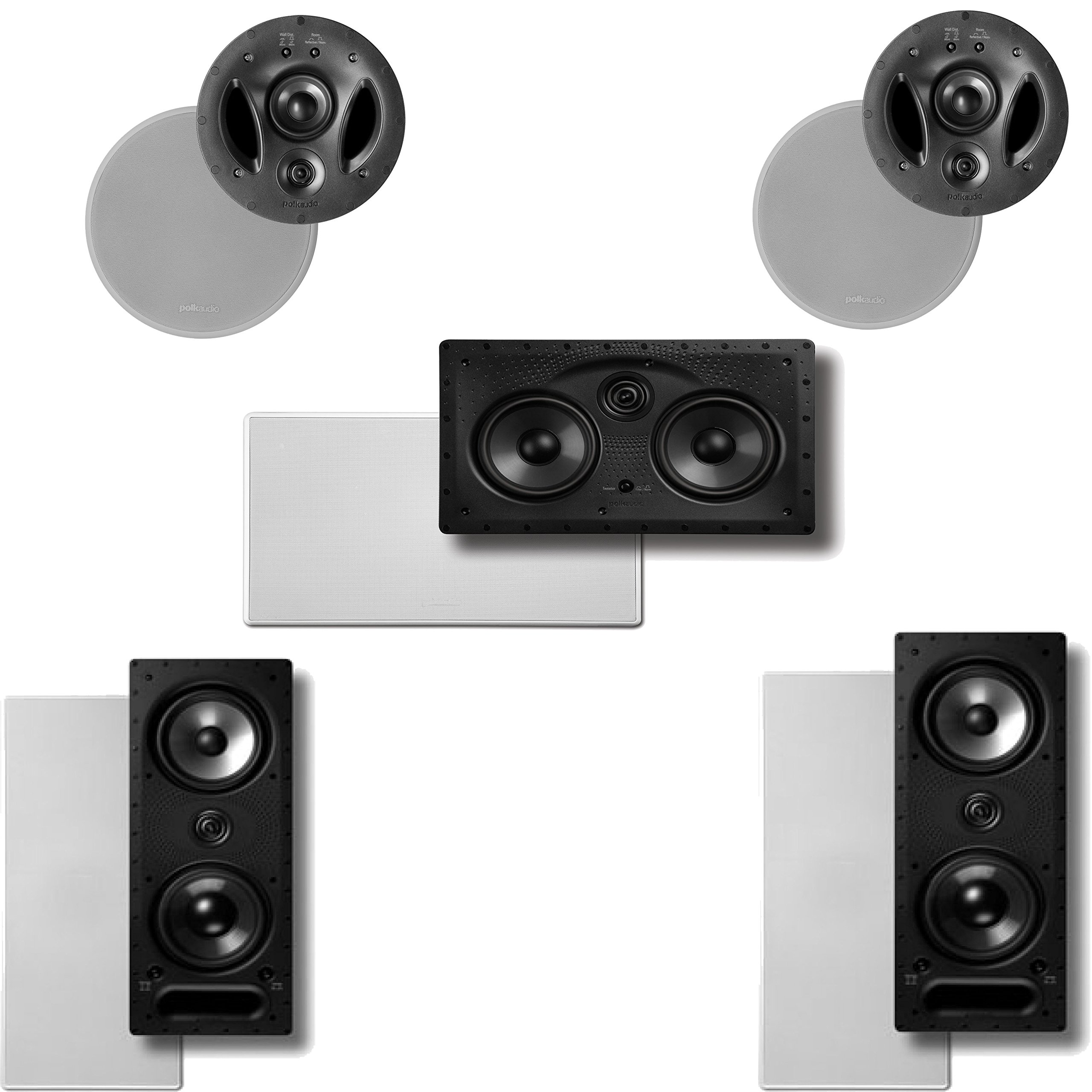 Polk Audio Vanishing LS Series 5.0 In-Wall / In-Ceiling Home Theater Speaker System (2-265LS, 2-700LS & 1-255CLS)