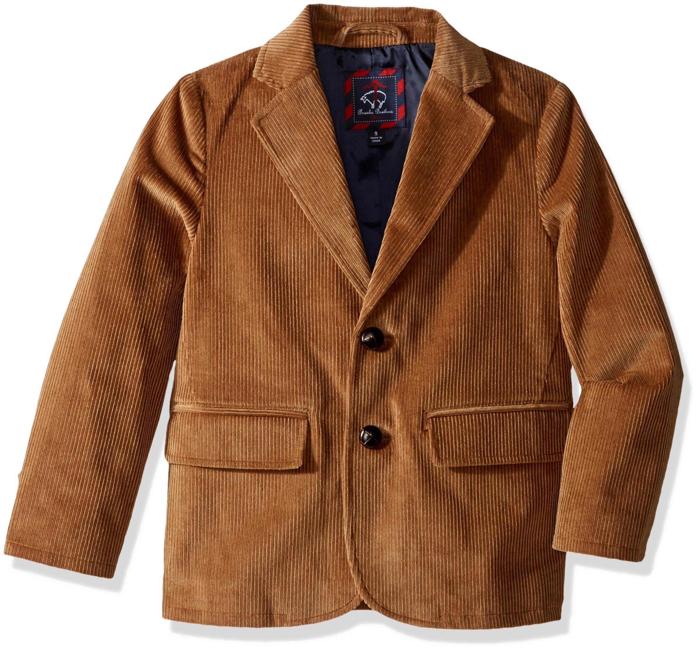Brooks Brothers Big Boys' Corduroy Sportcoat, Camel, M