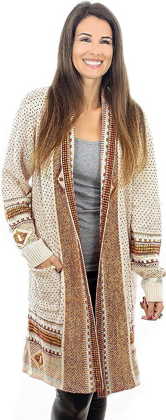 Women Open Knitted Sweater Casual Long Sleeve Cardigan Jacket Smart Coat Top.