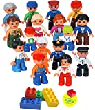 Community Figures Set Lego Duplo Compatible(16 Pcs) by LpToys