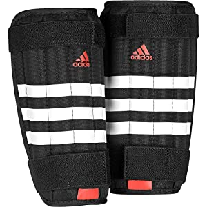 Adidas AP7032S Shin Guard, Small (White/Black/Soler Red)