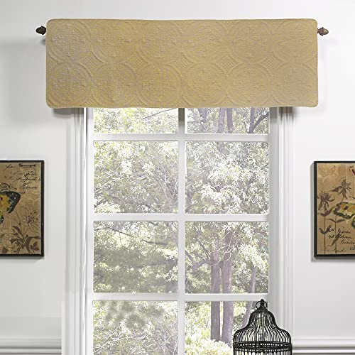 Valance – Ana Sunshine by Donna Sharp – Contemporary Decorative Window Treatment with Textured Pattern
