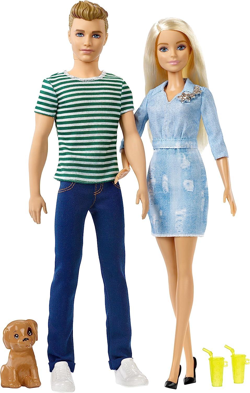 Barbie Barbie y Ken Muñecos con Perrito de Juguete (Mattel FTB72)
