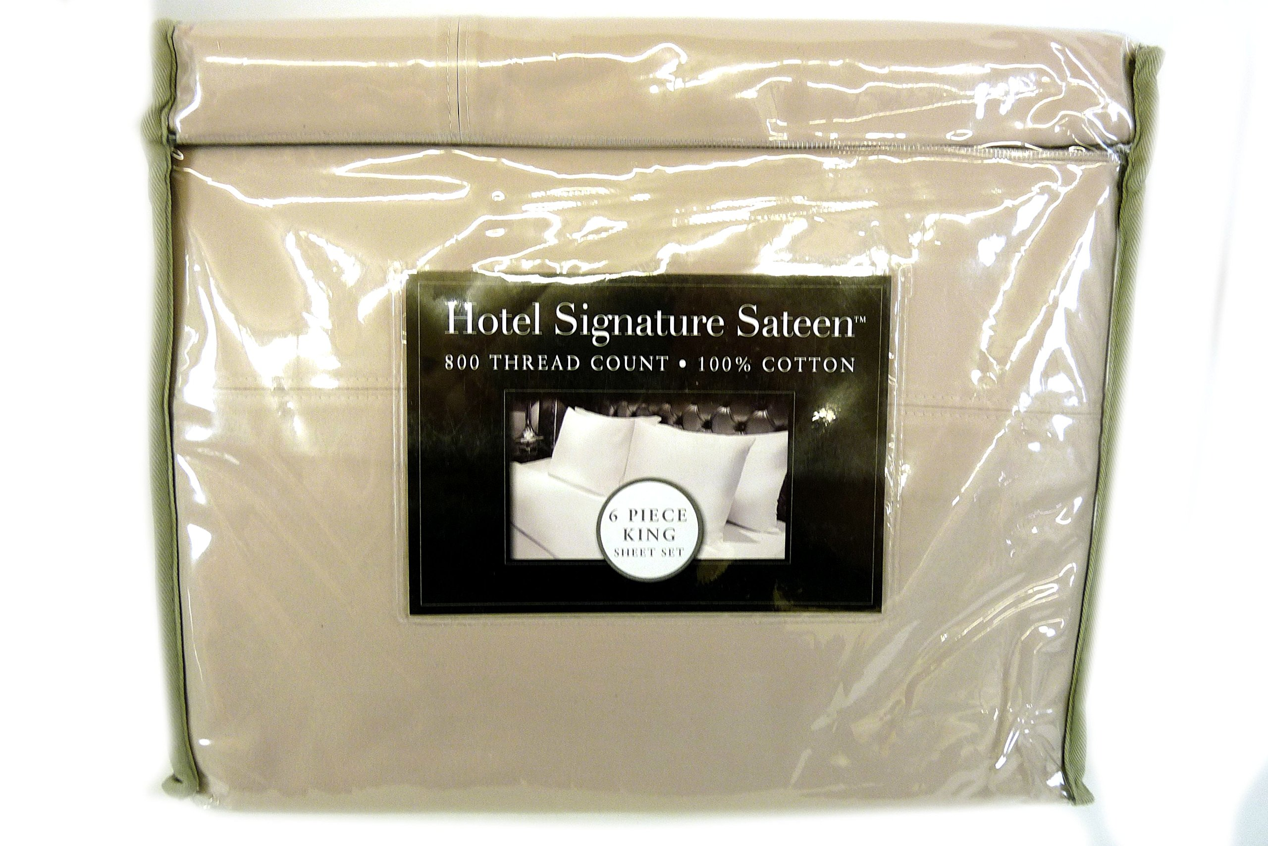 Hotel Signature Queen Size 6 Piece Grey 800 Thread count 100% Cotton Sheet set
