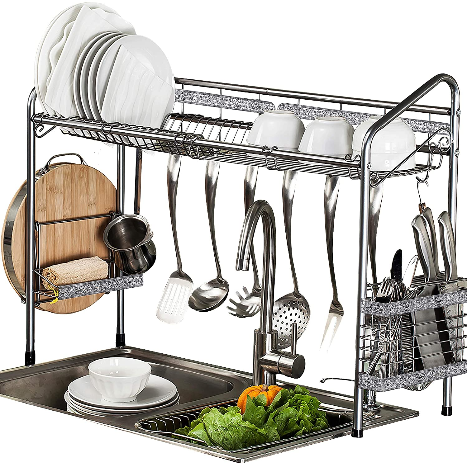 Cool Premiumracks Professional Over The Sink Dish Rack Fully Customizable Multipurpose Large Capacity Caraccident5 Cool Chair Designs And Ideas Caraccident5Info