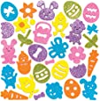 Baker Ross Easter Glitter Foam Stickers (Pack of 100) Embellishments for Kids Easter Arts and Crafts