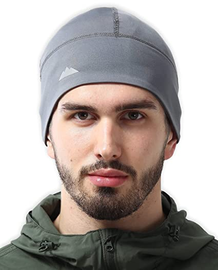 96df675c7c1 Image Unavailable. Image not available for. Color  Skull Cap Helmet Liner Thermal  Running Beanie Hat - Fits Under Helmets