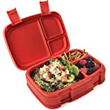 Bentgo Fresh - 防漏、多功能 4 隔层 Bento-Style 午餐盒 - 非常适合在途中进行部分控制和平衡的餐饮 - 不含双酚 A 且*食品材料 红色 unknown