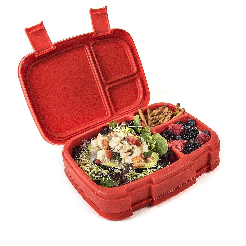Bentgo Fresh, porta-pranzo salva-goccia e versatile a 4 scompartimenti, in stile bento, ideale per mangiare a porzioni controllate ed in modo equilibrato anche fuori,senza BPA e con materiali per uso alimentare Blue