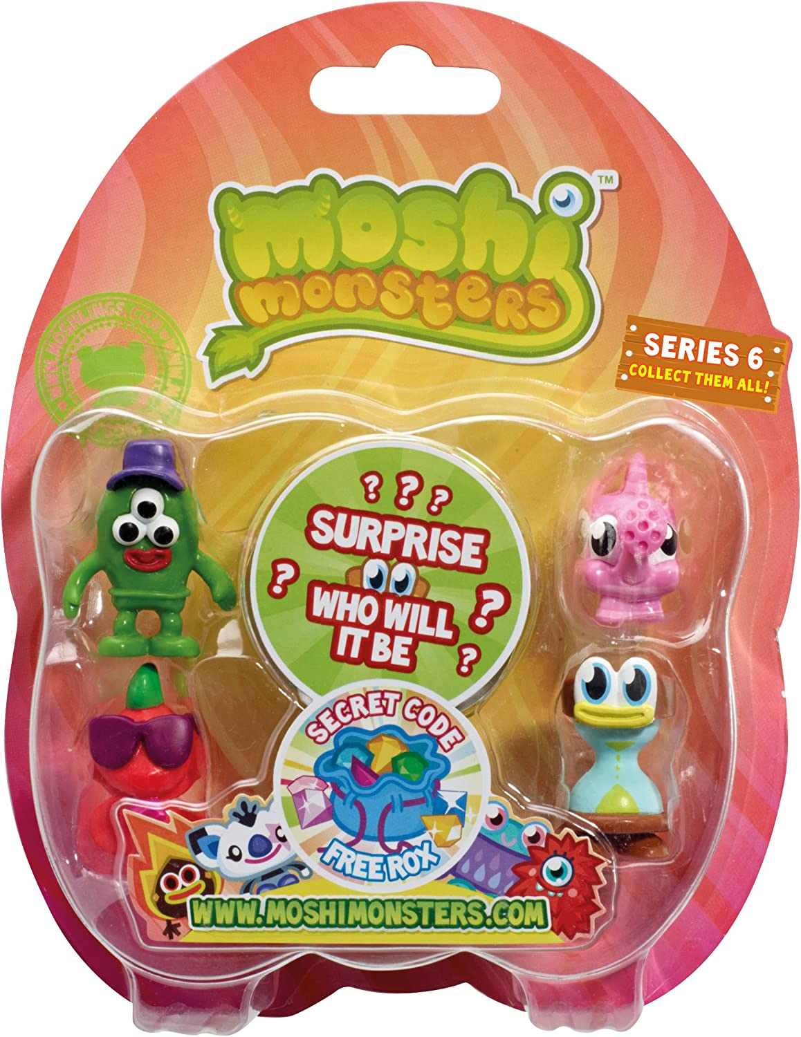 Moshi Monsters Moshling Collectables Series 6 Blister Pack - Chosen at Random