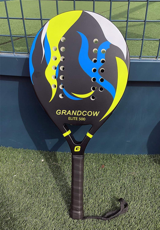 Amazon.com : GRANDCOW Beach Paddle/Padel Tennis Racket Carbon Fiber Surface 30mm Depth EVA Memory Foam Core POP Tennis Paddle Rackets with Extra Long Handle ...
