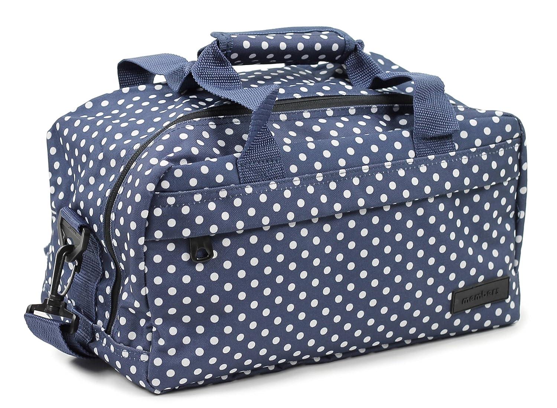 Members Essential secondo bagaglio a mano autorizzato da Ryanair Black & White Polka Dots 35 x 20 x 20 cm - 0.5 kg