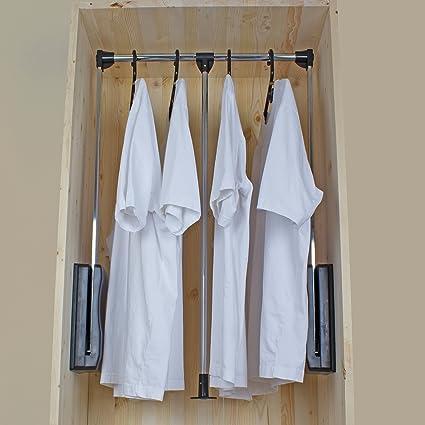GlideRite Hardware Steel Pull Down Wardrobe Lift Closet Rod Length: (35.5  To 48