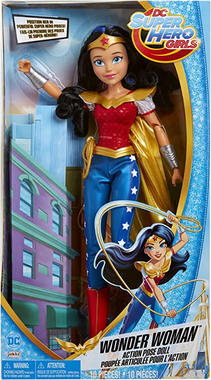 Amazon Com Dc Super Hero Girls Wonder Woman Action Pose Doll Toys Games
