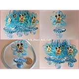 Baby Mickey Mouse 12 Pacifier Necklaces Baby Shower Game Favors Prizes Boy  Decor