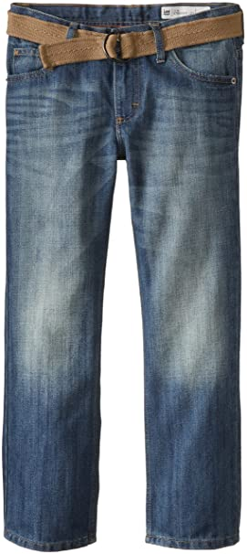 2aa5b2e0 Amazon.com: Lee Boys' Dungarees Belted Slim Straight Leg Jeans: Clothing
