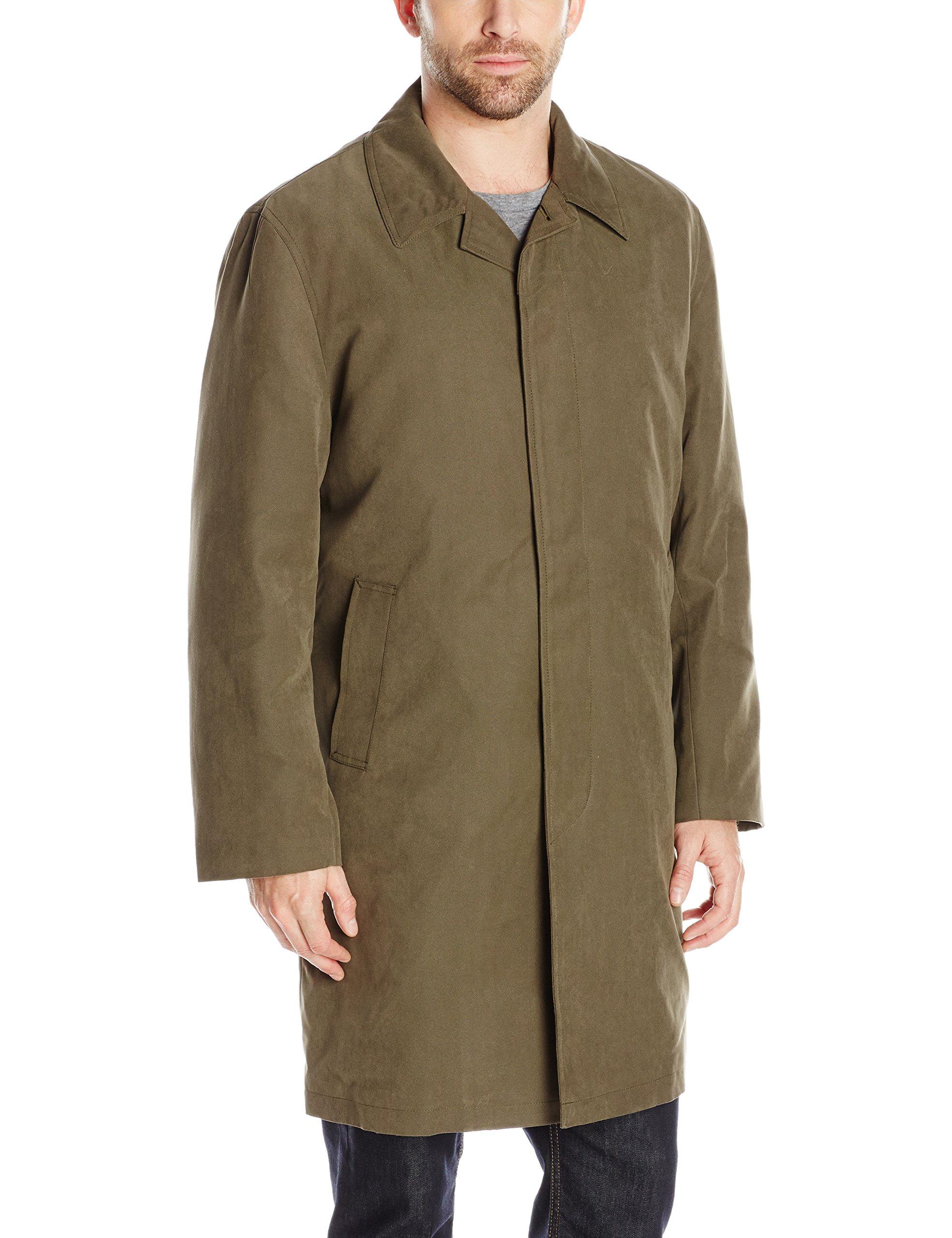 London Fog Men's Durham Rain Coat With Zip-Out Body, Covert, 40 Short