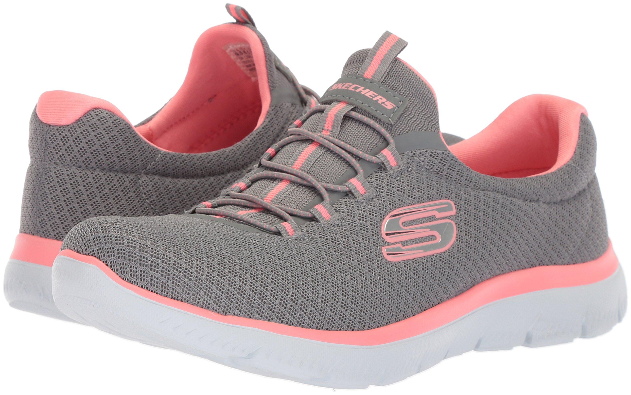 Skechers Sport Women's Summits Sneaker,grey/pink,8.5 W US