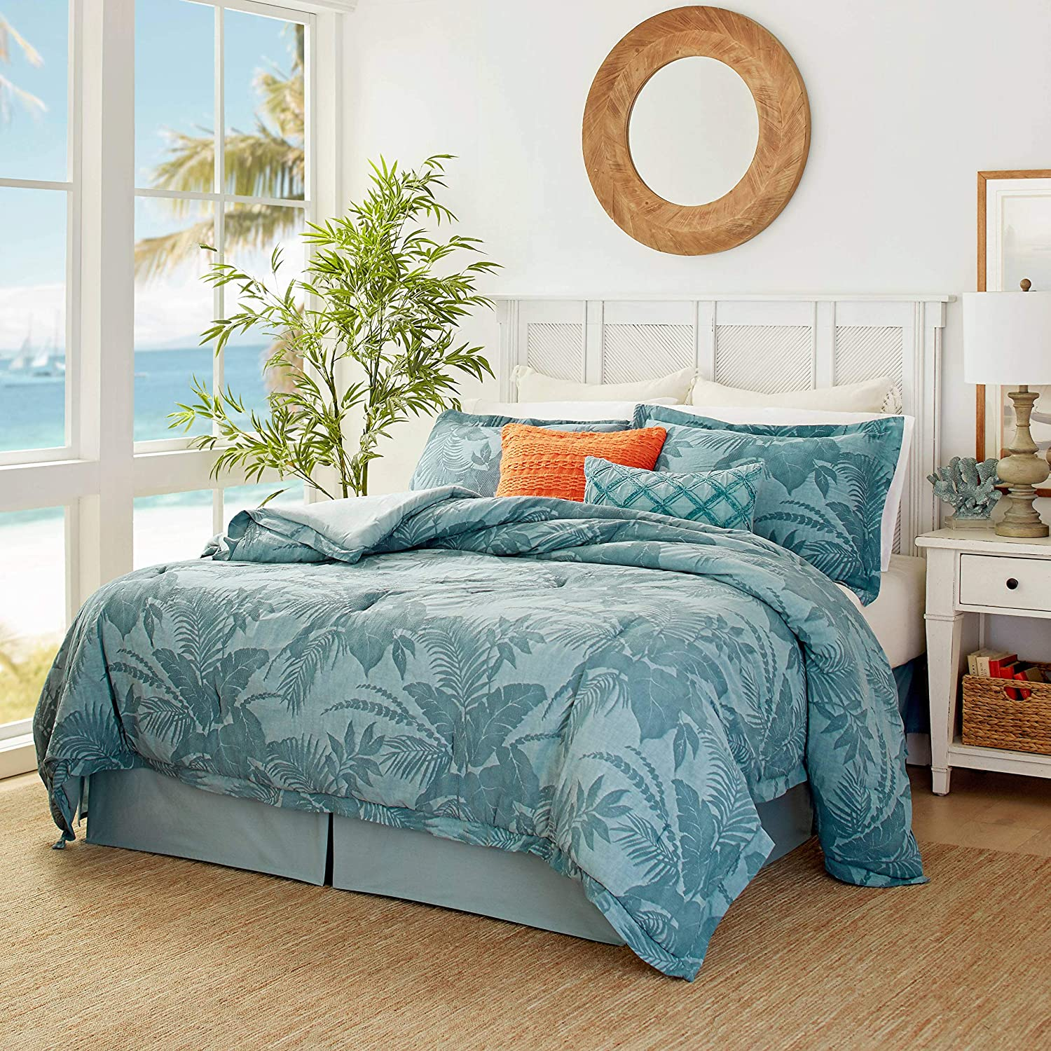 Tommy Bahama Blue Abalone Comforter Set, Queen
