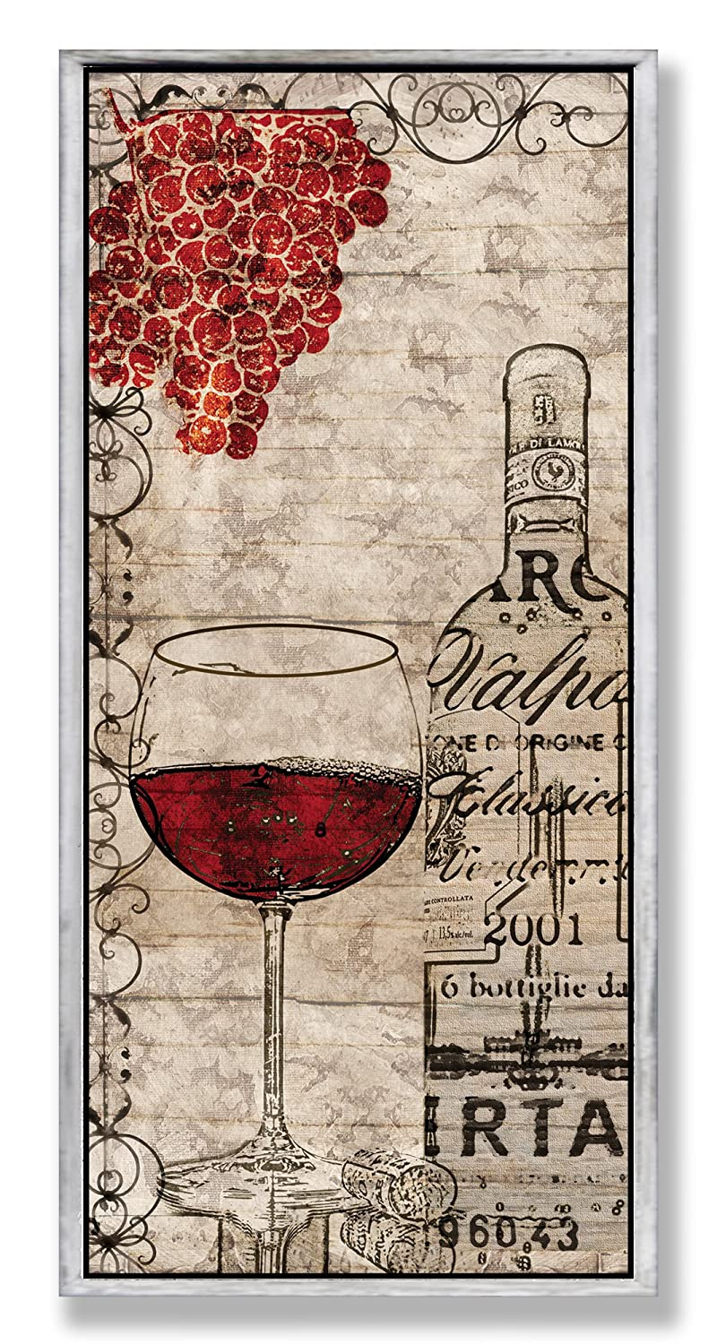 Amazoncom Stupell Home Décor Red Wine And Grapes Wall Plaque 7 X